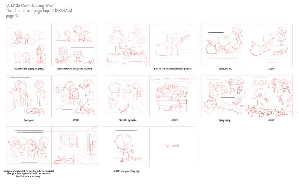 Thumbnails of Storyboard